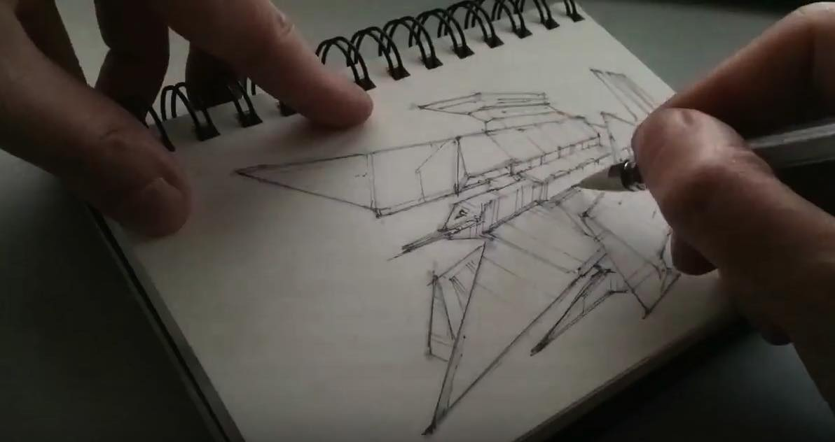 Art book captures spaceship artist's drawing-a-day regime