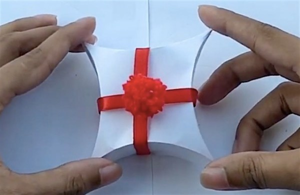 Watch: Here's an easy way to make a fancy gift box