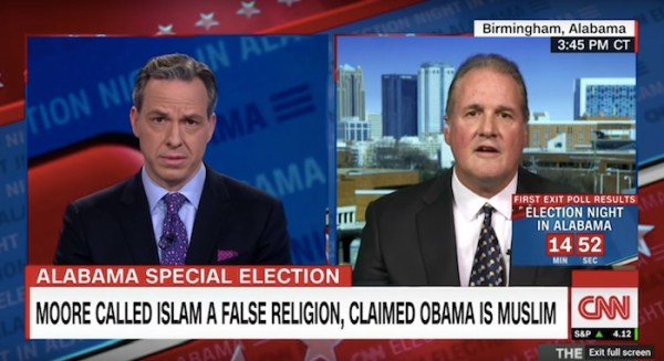 Idiot Roy Moore spokesperson left utterly speechless when Jake Tapper teaches him about the Bible in Congress