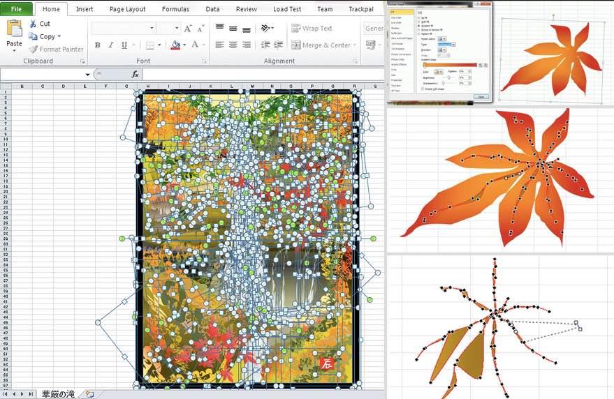 Artist makes fantastic digital paintings using Excel / Boing