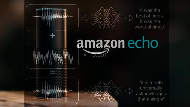 Adversarial examples: attack can imperceptibly alter any sound (or silence), embedding speech that only voice-assistants will hear