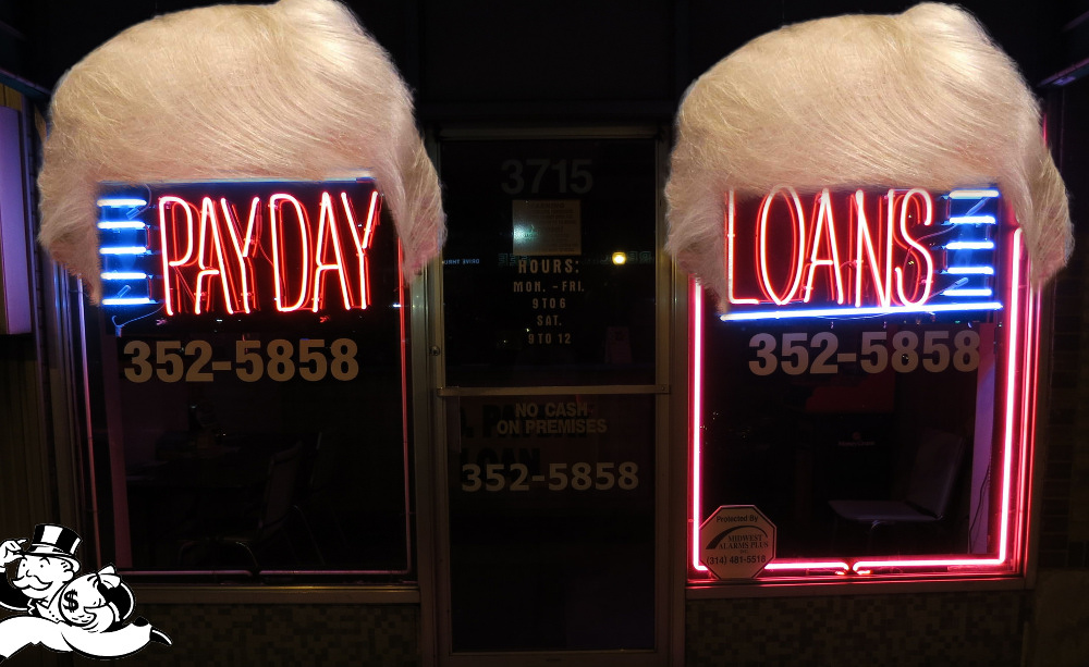 """Trump's """"consumer protection bureau"""" will let the $50B payday lending industry gouge the poorest Americans with triple-digit interest rates"""