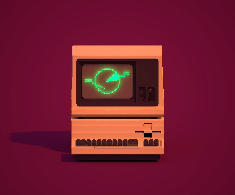 Voxel computer art
