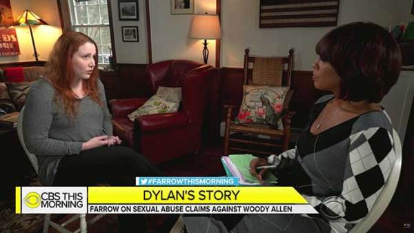 Dylan Farrow speaks on TV for first time about her sexual assault allegations against Woody Allen