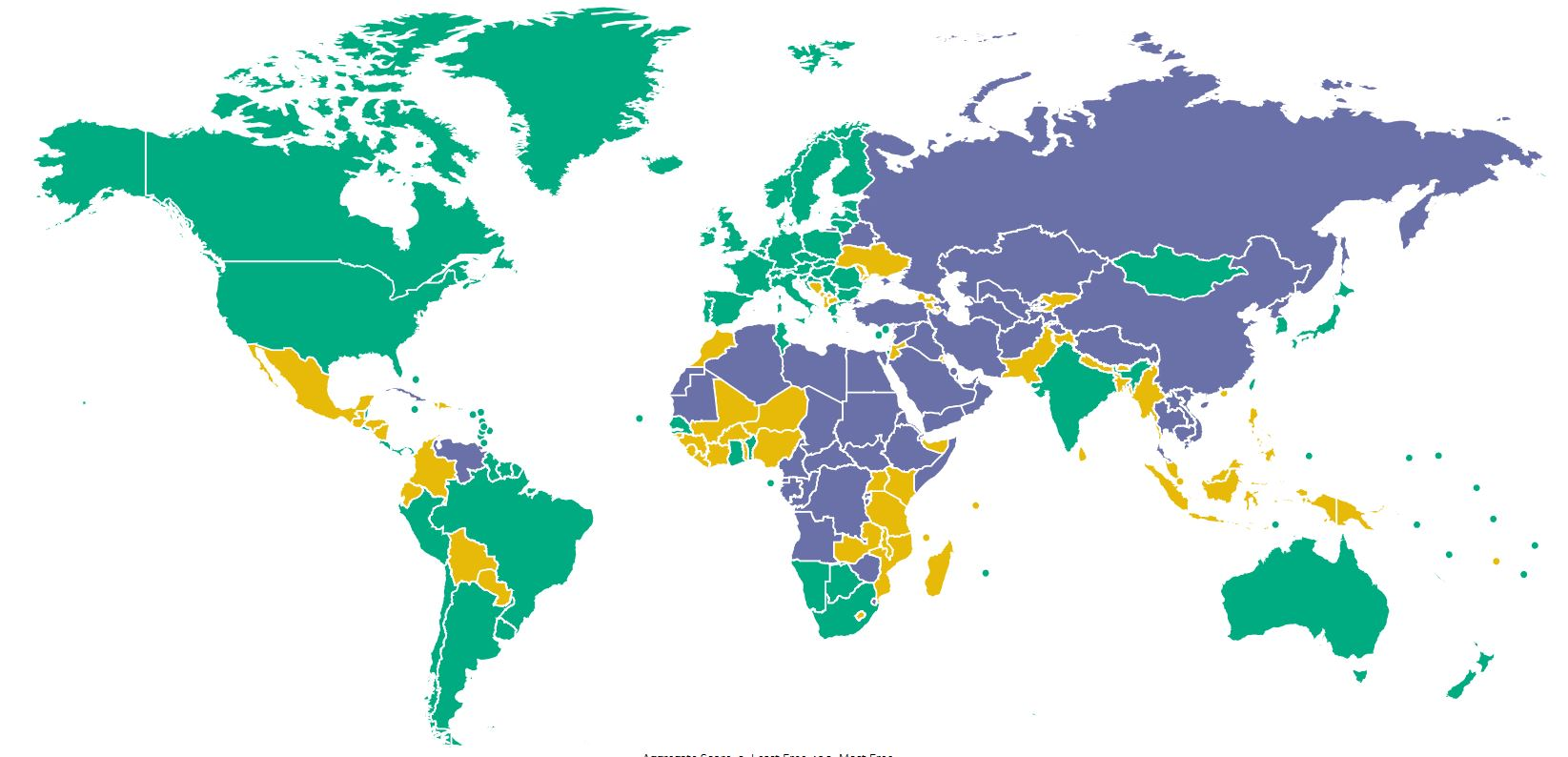 Countries That Use Natural Gas Map