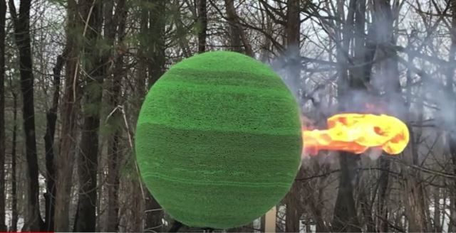 Here's what happens when you set fire to a glued ball of 42,000 matches