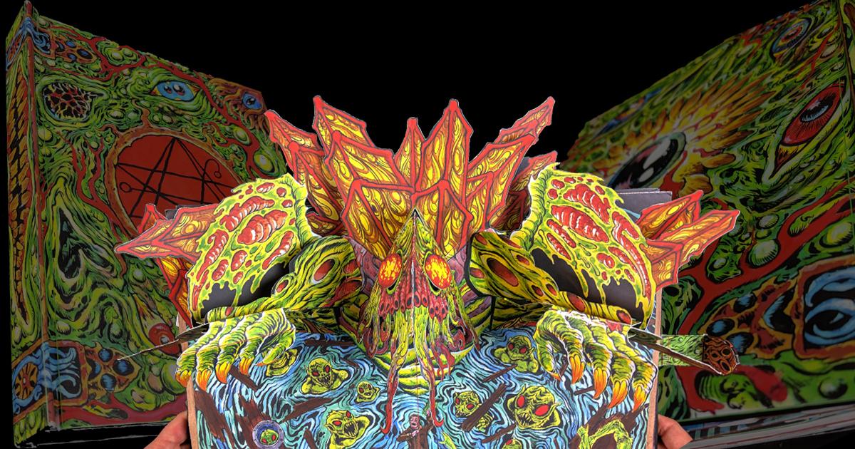 Książki antykwaryczne Necronomicon Pop Up Book Earth Dweller Edition Skinner Lovecraft Cthulhu