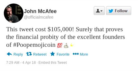 John mcafee net worth cryptocurrency