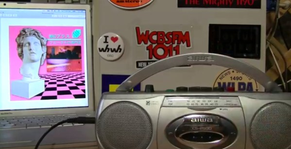 """Boombox """"turns any cassette into vaporwave"""""""