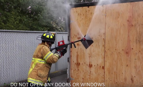 The Pyrolance Allows Water To Enter An Enclosed Fire Without Adding Dangerous Oxygen From Opening A Door Or Punching A Larger Hole
