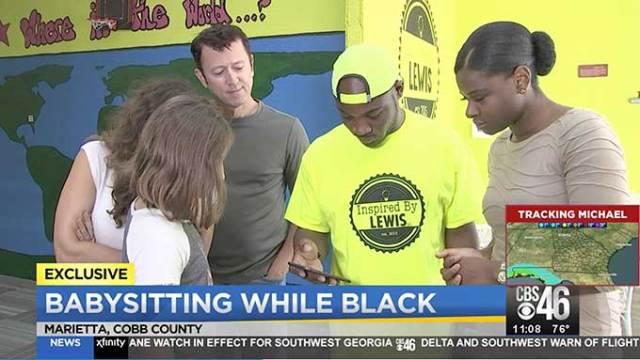 Man under suspicion for babysitting while black