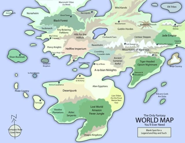 Every fantasy map