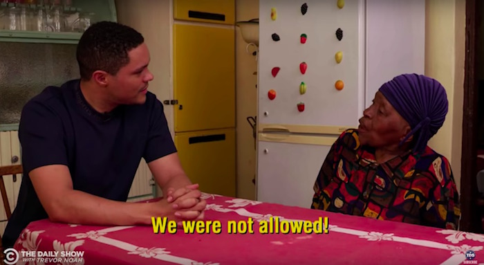 Trevor Noah's 91-year-old grandmother schools him on apartheid