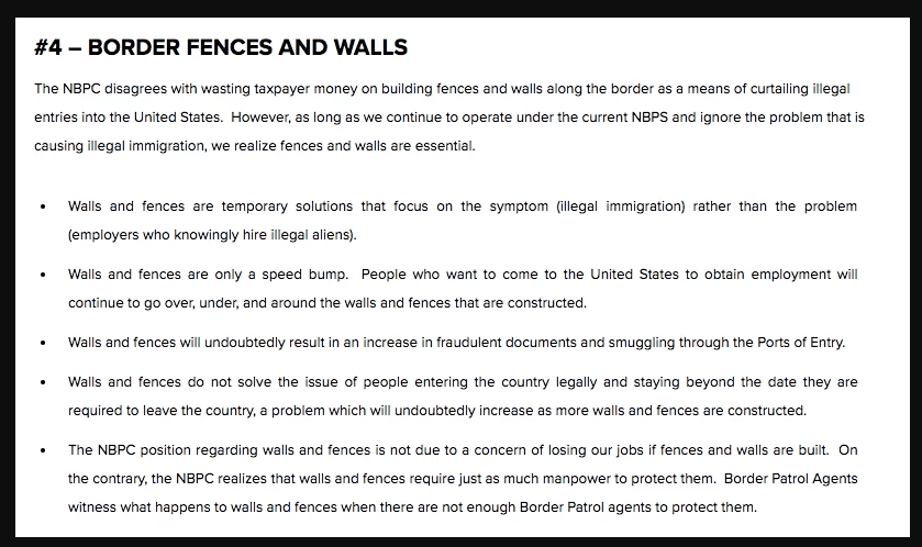 Border Patrol union deletes 2012 anti-border wall web page that argued walls waste taxpayer money