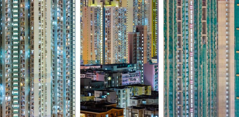 Astonishing aerial view of Hong Kong s public housing towers