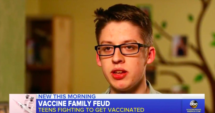 "When teen defies anti-vax parents and gets shots, his mom says it's a ""slap in the face"""
