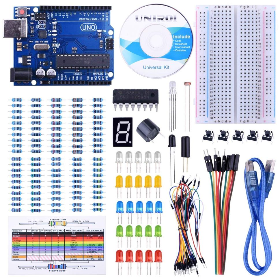Excellent starter kit for people interested in learning about Arduino