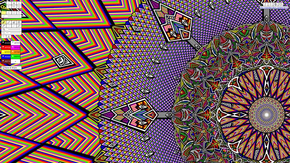MandalaGaba, a drawing board for creating recursive, symmetrical, tessellating art