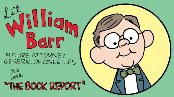 Li'l William Barr delivers his classroom book reports