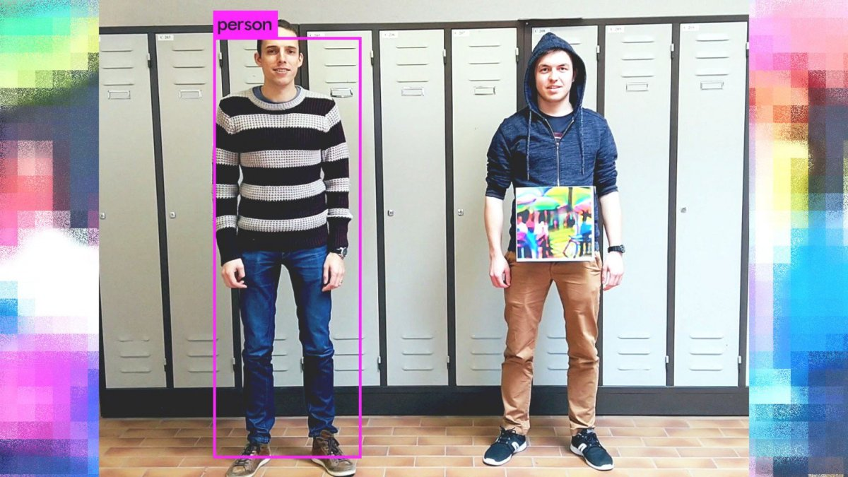 A 40cm-square patch that renders you invisible to person-detecting AIs