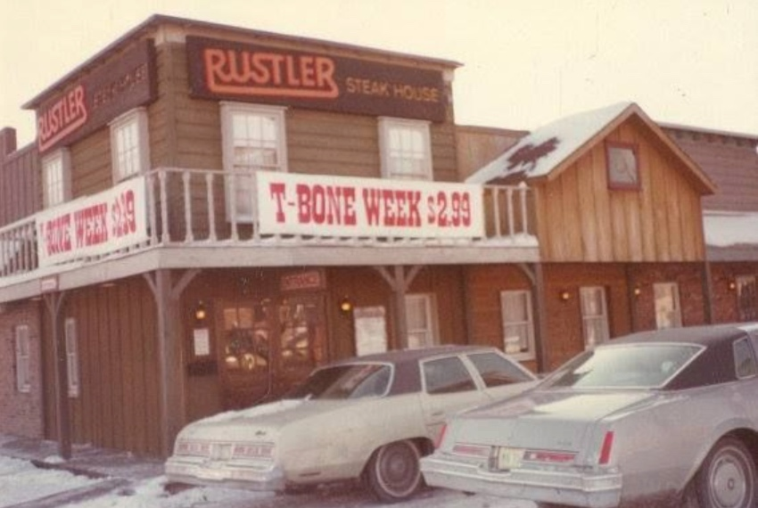 A day working at Rustler Steak House (1977)