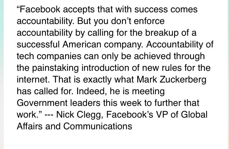 Facebook sends Nick Clegg to rebut co-founder Chris Hughes  call for breakup