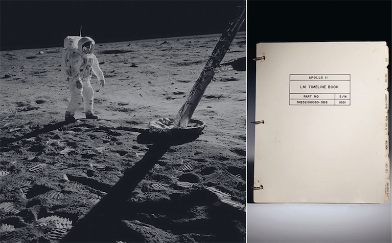Auction: Apollo 11 lunar landing manual that flew to the moon and back