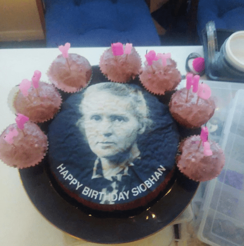 Woman asks for Mariah Carey on her birthday cake, gets Marie Curie instead