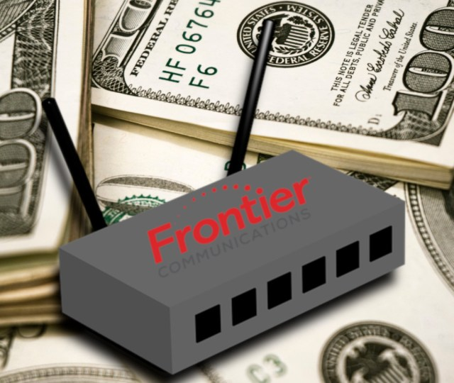 """Frontier: if you don't buy your router, we'll charge you a rental fee; if you DO buy your router, we'll charge you a """"support"""" fee"""