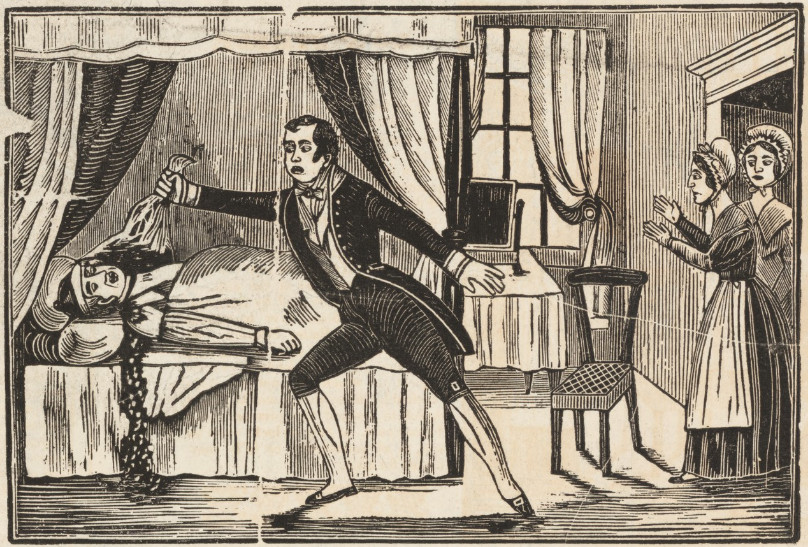 In 1840 London was scandalized when Lord William Russell was found dead in bed with his throat cut