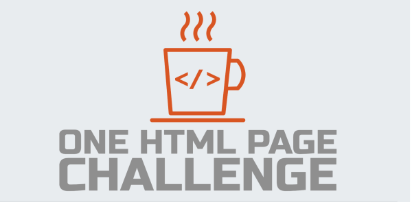 "Image of the ""one html page challenge"" web site"