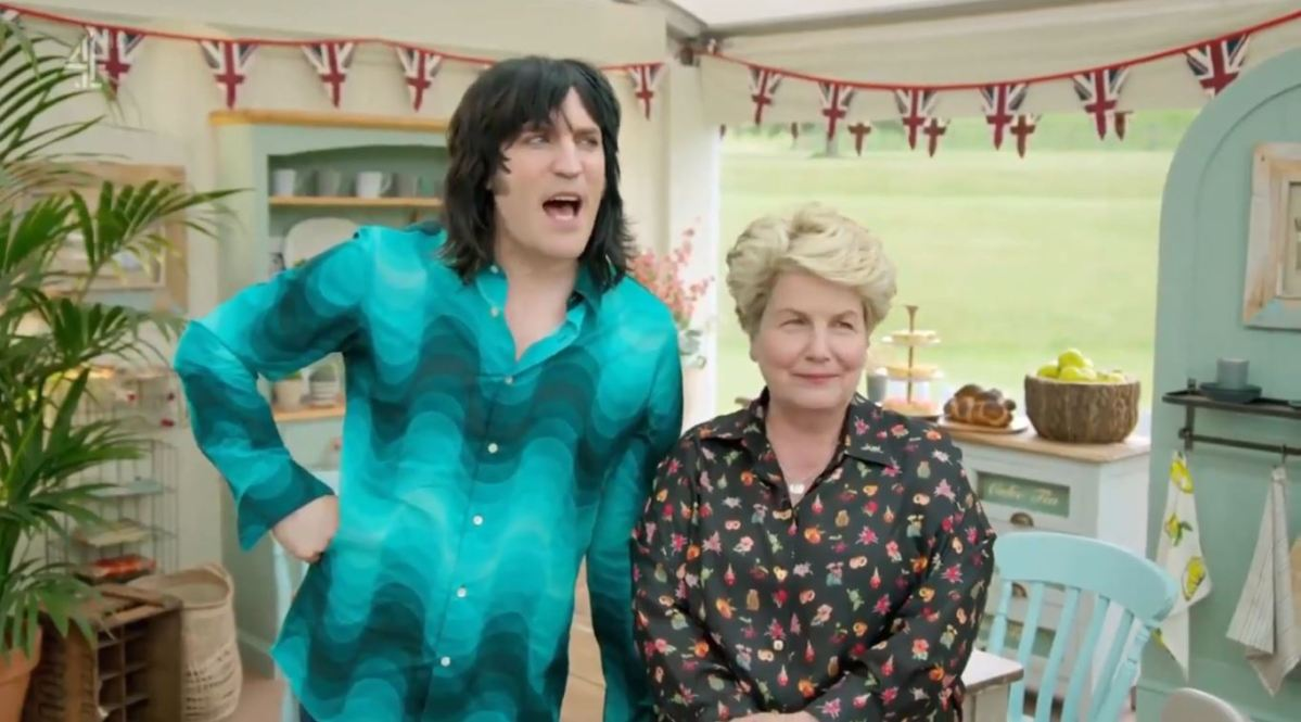 Beware Noel Fielding's dizzying shirt on this week's episode of The Great British Bake Off