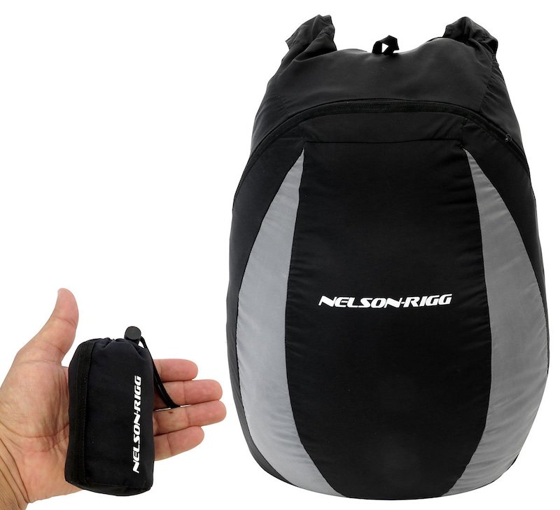 Super packable backpack for motorcycle or travel