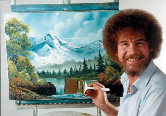"""Happy Accidents,"" exhibition of Bob Ross paintings opens in Virginia"