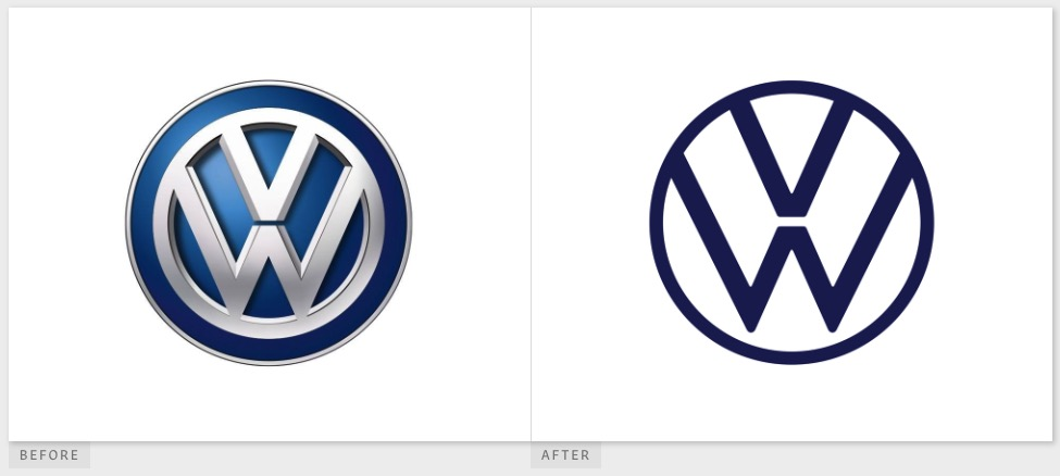 Volkswagen upgrades its logo