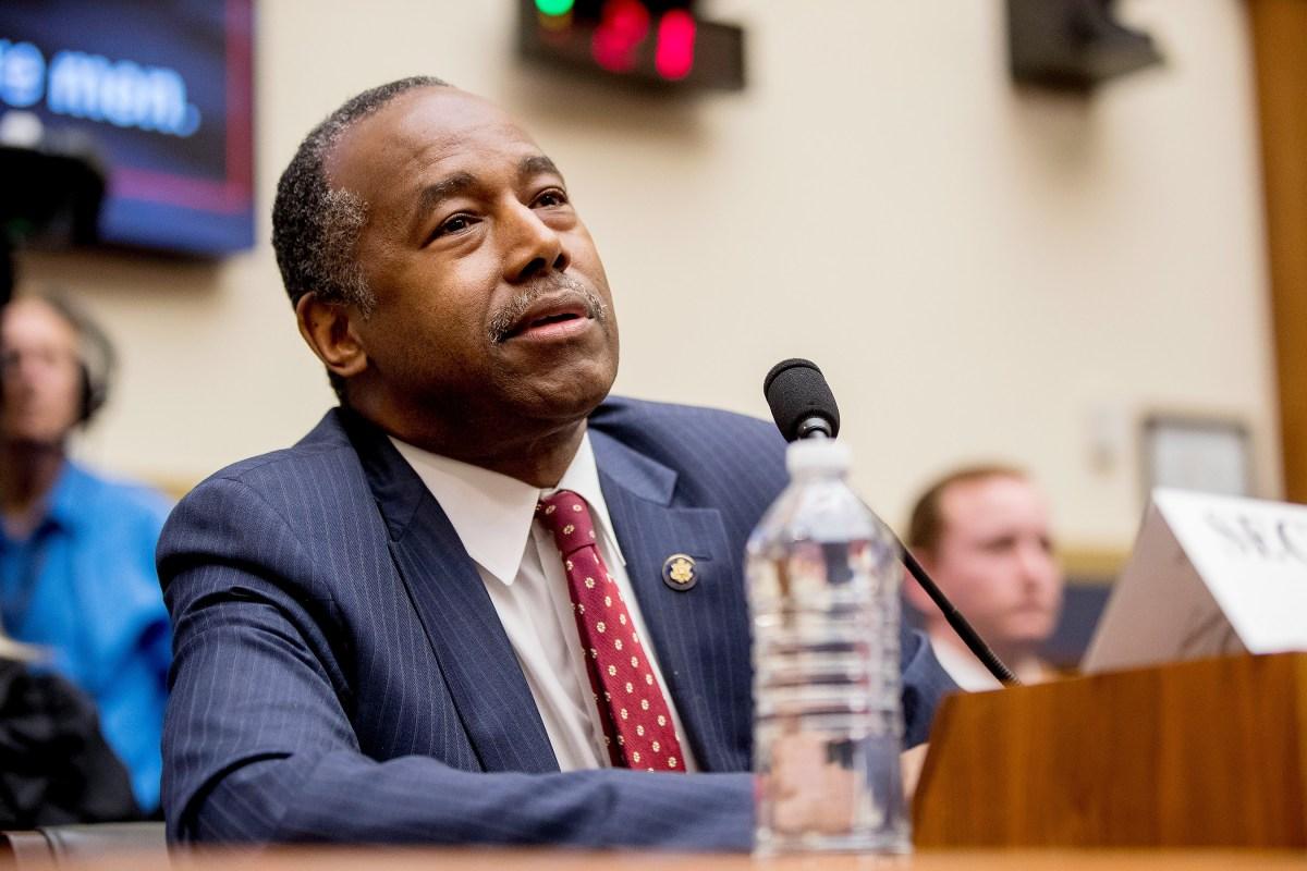 HUD Sec. Ben Carson concerned 'big, hairy men' infiltrating women's homeless shelters