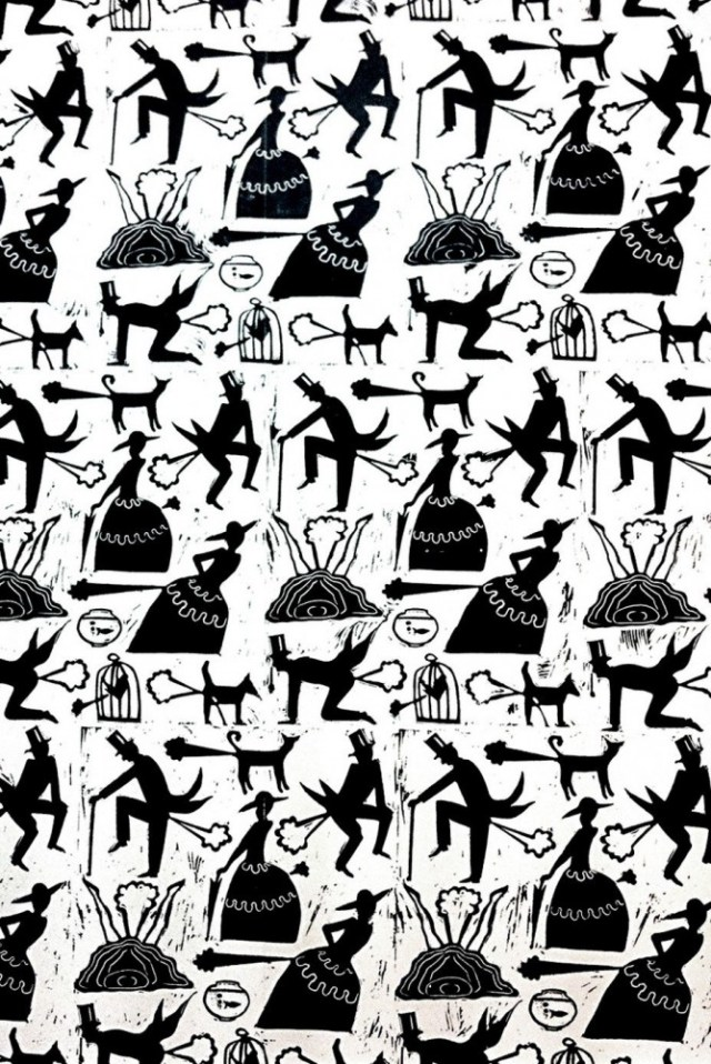 """Farting Victorians"" wallpaper"
