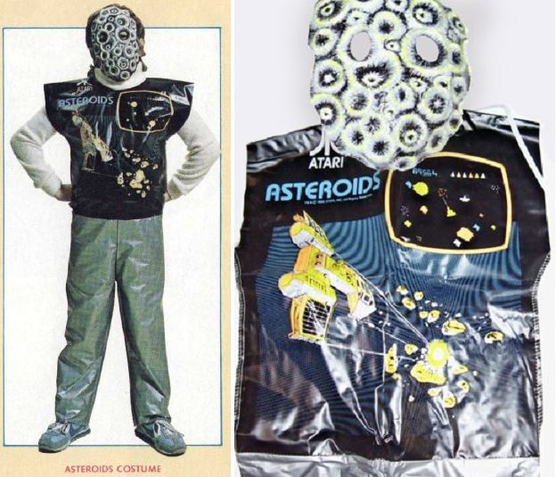 Vintage Asteroids costume is surprisingly terrifying