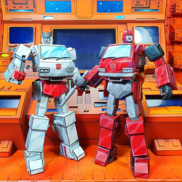 Transformers toys given custom cel-shaded paintjobs