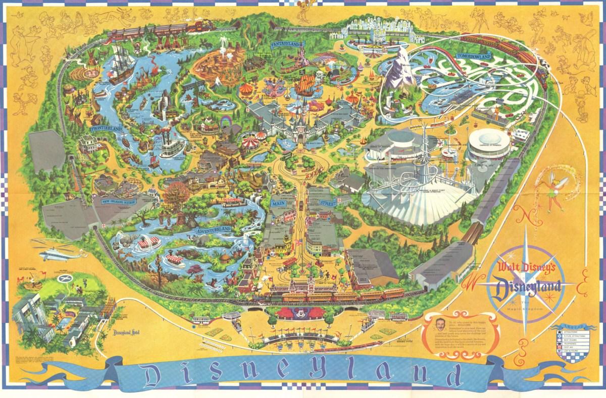 Hi-rez, open-licensed recreation of the 1968 Disneyland souvenir map
