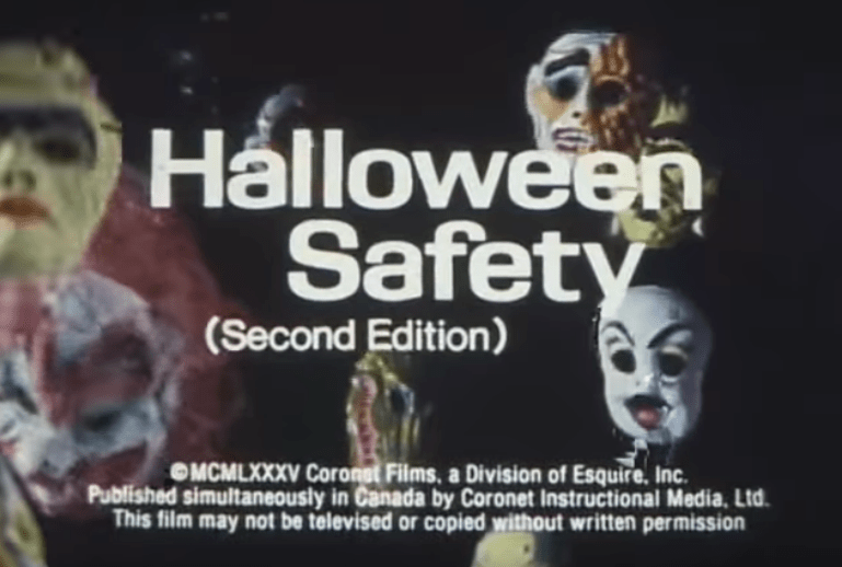 This vintage Halloween safety video from 1985 is a real treat