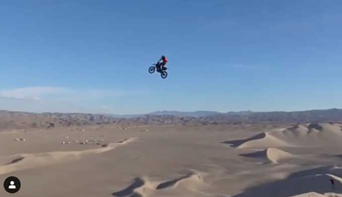 Just When You Think This Dune-riding Motorcycle Rider Is A