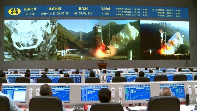 A spent Chinese rocket booster destroyed part of a village near the launching site