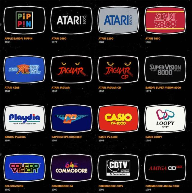 Logos of videogame consoles from then and now