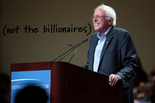 Bernie Sanders is the only leading Democrat who hasn't taken money from billionaires