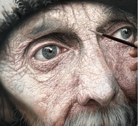 Watch Iranian artist Ali Akbar Beigi apply finishing touches to a hyper-realistic oil painting