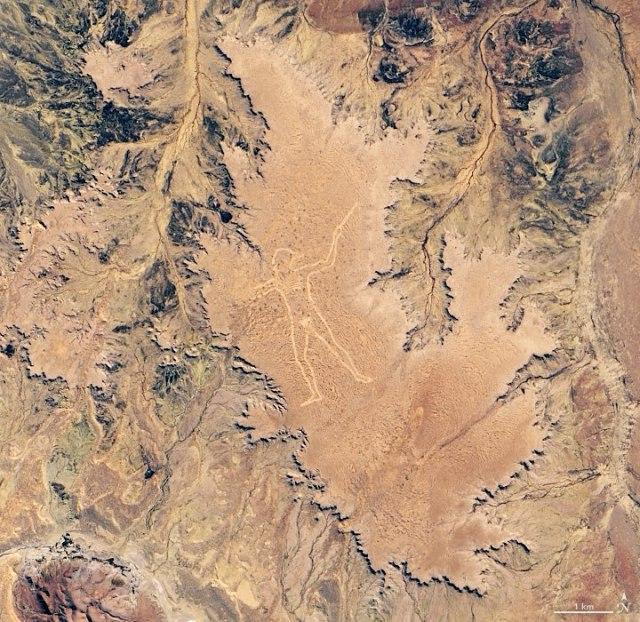 Beautiful NASA satellite image of the mysterious giant man of South Australia