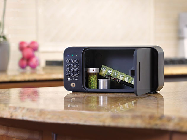 The Motorola Smart Safe lets you monitor and open it remotely