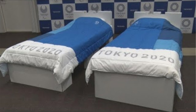 Athletes at the Tokyo Olympics will sleep on cardboard beds