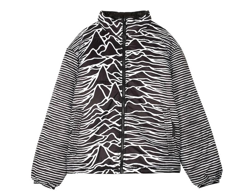 "Joy Division ""Unknown Pleasures"" puffer jacket"